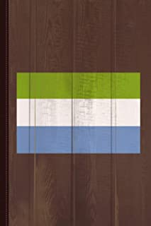 Sierra Leone Flag Journal Notebook: Blank Lined Ruled For Writing 6x9 110 Pages
