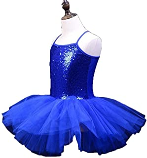 Beautiful Dance Skirt Kids Ballet Skirt Girls Dance Clothes Toddler Practice Clothes Costumes Suspenders Fashion (Color : Blue, Size : XX-Large)