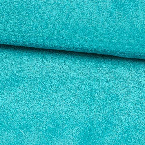 Stoffe Werning Wellness Fleece Uni einfarbig türkis- Preis Gilt für 0,5 Meter