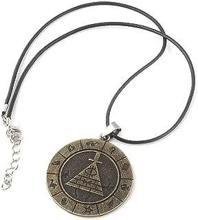 OfficialOtaku Bill Cipher Gravity Falls Wheel Pendant Necklace - Metal (0.7g) Gold