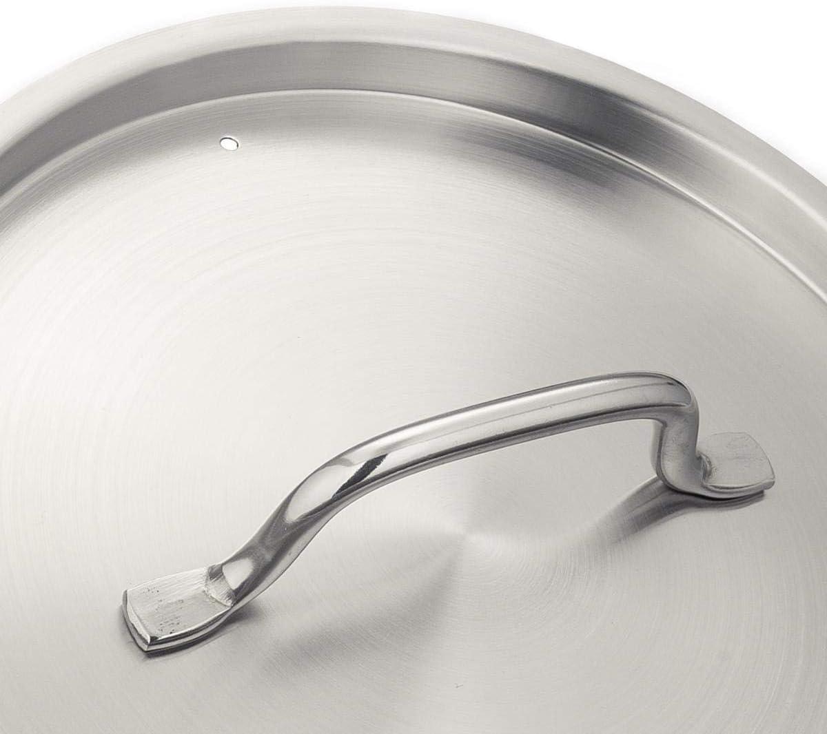 Olla // Cacerola alta con tapa Metro Professional incluida inducci/ón apta para lavavajillas 28 cm - 6,5L cualquier superficie de cocci/ón para uso Industrial Acero Inoxidable de profundidad