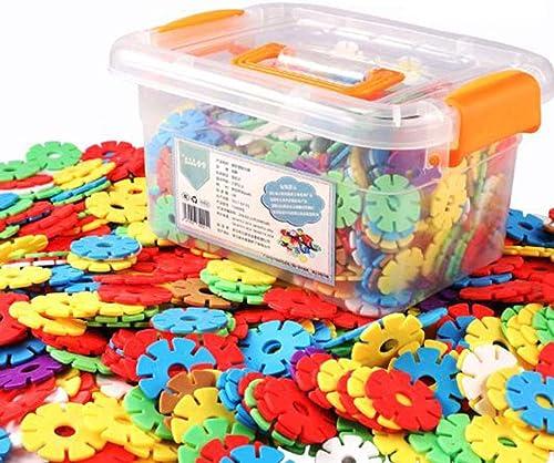 SEJNGF Blocs De Construction Enfants Jouets Flocon De Neige Orthographe Insérer 3-6 Ans Puzzle Assemblé en Plastique,grandsnowflake500pieces