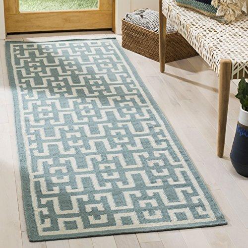 Safavieh Dhurries Collection DHU621A Handmade Flatweave Premium Wool Runner, 2