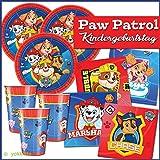 amscan Paw Patrol / Patrulla Canina - Set decoración Fiesta - 36 Piezas - para 8 Personas