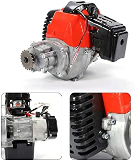 49CC 2-stroke Engine Motor Cylinder Pull Start Gas Scooter Mini Bike Motor T8F Chain Complete Engine Motor Kit