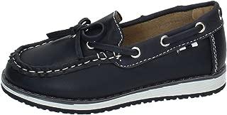 DEMAX NS598A-18 Zapatos NAÚTICOS NIÑO Zapatos MOCASÍN
