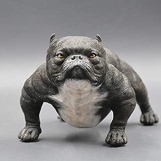 RYYAIYL American Bully Pitbull Sculpture Pet Portrait Dog Statue Figurine Memorial Car Decoration/Children's Toys/7.87x4.3x5.1inches (Color : C)
