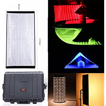 Falcon Eyes RX-736 200W RGB Photo Light Portable LED Flexible LED Color Temperature 2700K-9999K