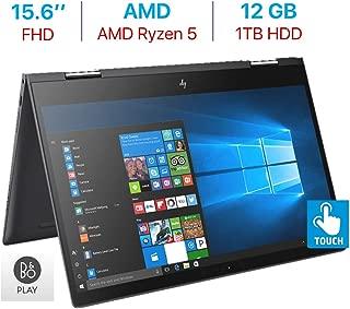 HP Envy x360 15.6'' Touchscreen 2-in-1 FHD (1920x1080) Laptop PC, Quad Core AMD Ryzen 5 2500U up to 3.6GHz, 12GB DDR4 SDRAM, 1TB HDD, Backlit Keyboard, B&O Play, HDMI, Bluetooth, Windows 10