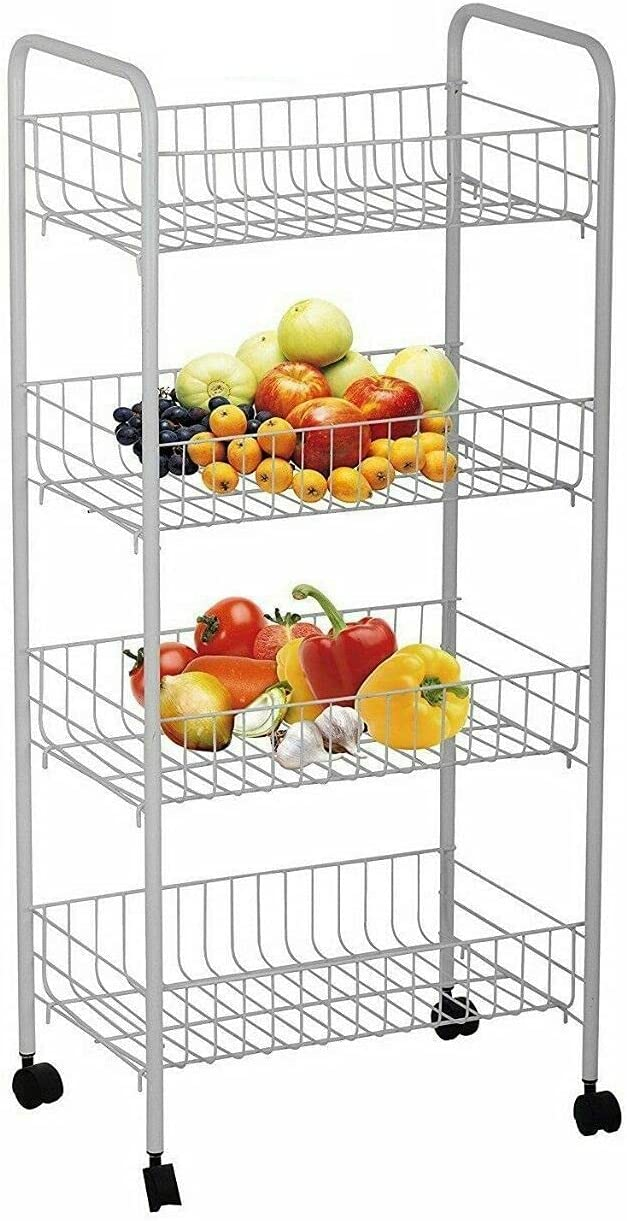Ranking TOP2 ZeoTioo 4 Tier Fruit and Organizer We OFFer at cheap prices Stainl Vegetable Storage Rack