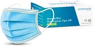 IBEROMASK Mascarilla Quirúrgica Tipo IIR. Caja 50 Unidades. Made in Spain. Homologadas. BFE ? 98%