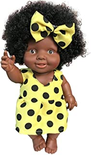 SUPERLOVE Muñeca Africana Muñecas para bebés Muñecas Negras Juguetes para niños Muñeca Realista Muñecas Niña Regalo de cumpleaños