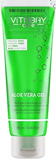Aloe Vera Gel 250 ml - 99.9% Aloe Vera plus Pepino Extracto Hidratante - Suavizante