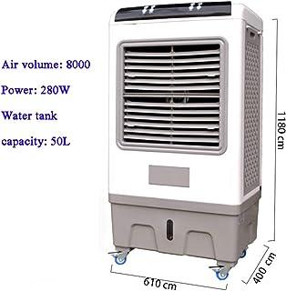 Enfriador Industrial Aire Acondicionado De Agua, Ventilador Móvil Inicio Fábrica De Taller Ahorro De Energía Enfriador Evaporativo con Tanque De Agua-b