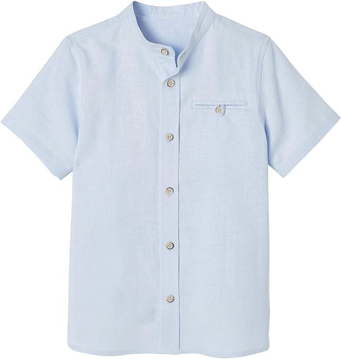 Vertbaudet - Camisa para niño con cuello alto
