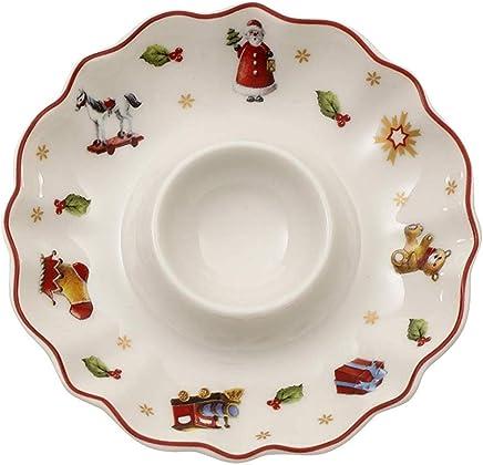 Preisvergleich für Villeroy & Boch Toy's Delight Eierbecher, Premium Porzellan, Weiß/Rot/Gold