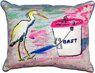 """Betsy Drake SN531 Hungry Egret Pillow, 11"""" x14"""""""