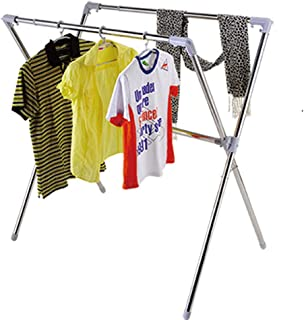 ZKKAW Expandable Outdoor Clothes Airer, Multifunctional Laundry Drying Rack Folding Indoor Drying Rack Shoe Rack Plant Stand Perfect for Small Spaces