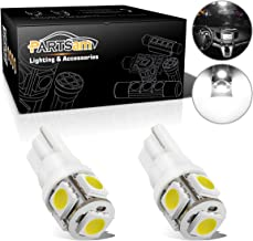 Partsam T10 194 LED Light Bulbs 168 175 2825 Replacement Lights for Car Interior Dome Map Door Courtesy Light Side Marker License Plate Lights White 2pack