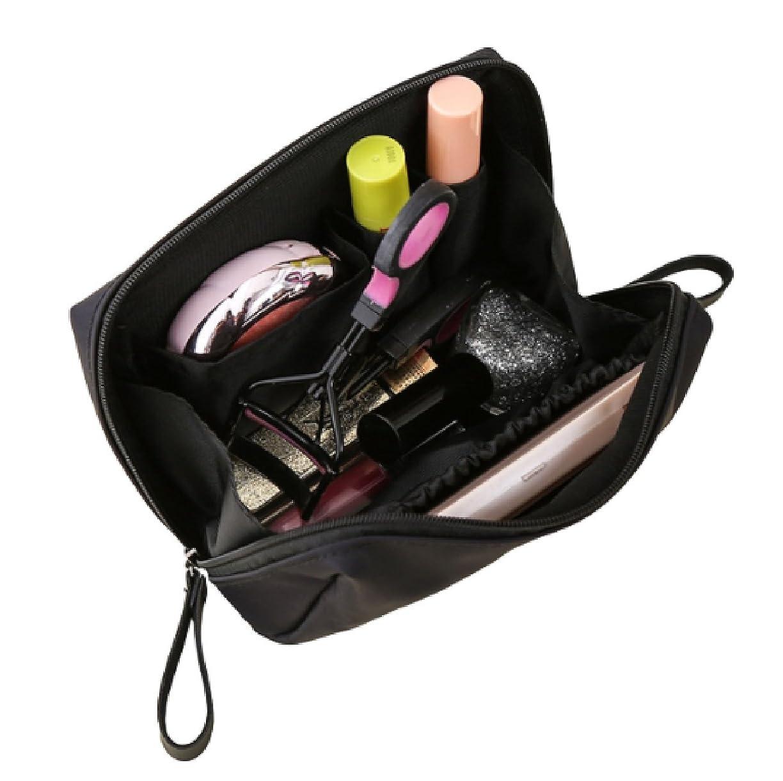 ビーズ強化するパッドKLU 化粧ポーチ かわいい コンパクトサイズ 持ち運び便利 仕切り 仕分け収納 小物入れ 軽量 トラベルポーチ