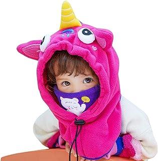 Niños Niñas Bebé Gorra Dibujos Animados Sombrero Conjunto de Protección Para el Cuello Cabeza con Capucha Otoño Invierno