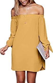 Women's Casual Off The Shoulder Loose Long Dress 8650
