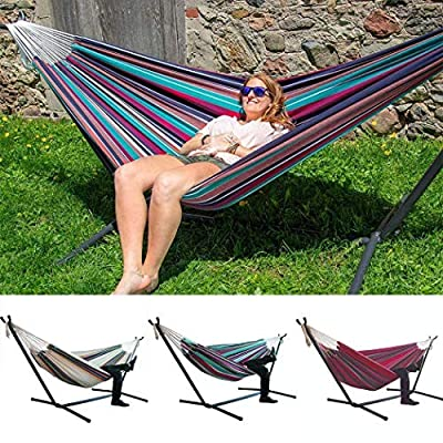 Modfine Comfort Durability Striped Hanging Chair Large Hammock Chair(Without Shelf)