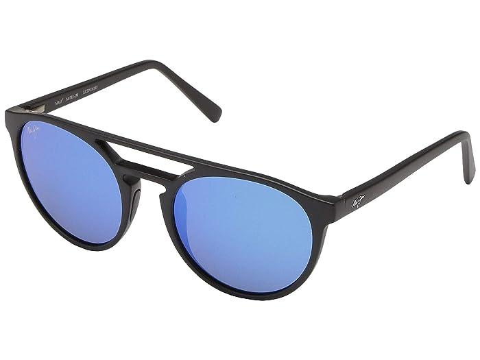 Ah Dang! (Matte Black/Blue Hawaii) Athletic Performance Sport Sunglasses