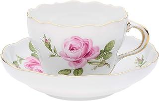 【正規輸入品】 マイセン [MEISSEN] マイセンのバラ(ピンク) ティー/コーヒー 兼用カップ&ソーサー 020110/00582