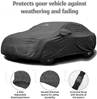 CARMATE Pride Custom Fitting Waterproof Car Body Cover for Maruti New Baleno - Grey