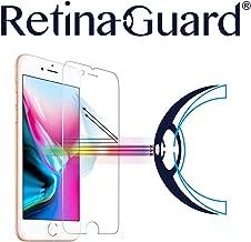 RetinaGuard iPhone 8 Anti Blue Light Tempered Glass Screen Protector (Transparent), SGS and Intertek Tested, Blocks Excessive Harmful Blue Light, Reduce Eye Fatigue and Eye Strain