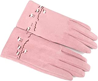 WUXiaodanDan Women's simple fashion gloves thick warm gloves outdoor riding driving gloves