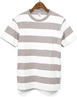 ベルバシーン(VELVA SHEEN)161560W WIDE BORDER Tシャツ ワイドボーダーポケットTEE S/STEE ポケT 半袖Tシャツ