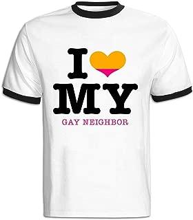 JWZT-KN Men's I Heart My Gay Neighbor Eps T Shirt