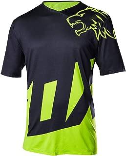 Wisdom Leaves Men's Short Sleeve Cycling Jersey Mountain Bike Shirt Loose Fit MTB Bike Jersey Moisture-Wicking T-Shirt