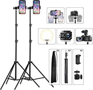 Phone Tripod Stand Video Light Stand Photography Tripod Stand for iPhone & Camera Video Recording Vlogging/Streaming/Photo...