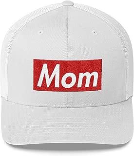 Mom Hat (Supreme Box Logo Style) Trucker Cap