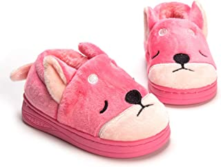 Kid Winter Plush Slippers Toddler Boys Girls Warm Doggy Indoor Bedroom Shoes with Fur