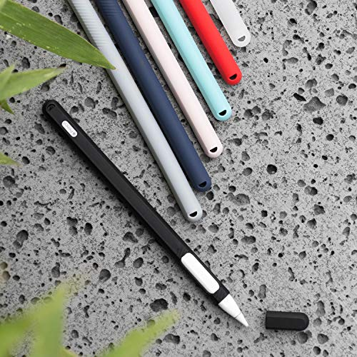 ColorCoral Silicone Case for Apple Pencil 2nd Generation Grip Ultra Light Apple Pencil 2 Holder Sleeve iPad Pencil 2nd Gen Grip Cover Compatible with iPad Pro Stylus