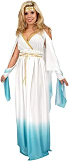 Charades Adult White and Blue Greek Goddess Costume