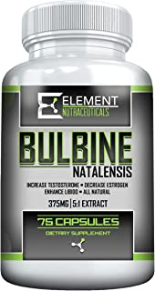 Bulbine Natalensis (375mg 75ct) 100% Natural Testosterone Booster by Element Nutraceuticals