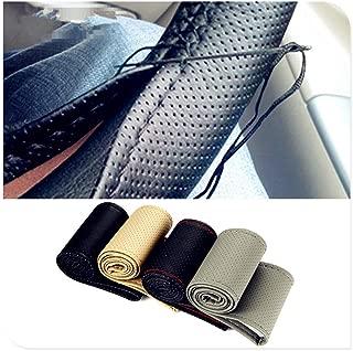 ZHOUMOFXP Car Braid Wheel Steering Cover Thread 38cm,for Mercedes Benz W211 W203 W204 W210 W124 AMG W202 CLA W212 W220 CLK63 R F700