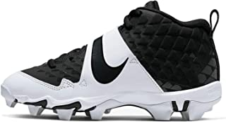 Kids' Force Trout 6 Keystone Baseball Cleats (4, Black/White-M)