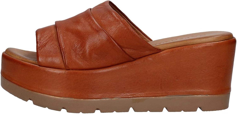 CAF schwarz HC122 Leder Pantoffeln verstopft Frau Leder Keil