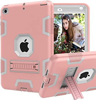 CCMAO iPad Mini 5 Case, iPad Mini 4 Case, Hybrid Three Layer Armor Shockproof Rugged Drop Protection Cover Case Built with Kickstandfor Apple iPad Mini 5th Generation 7.9
