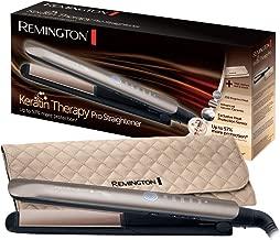 Remington Keratin Therapy Pro S8590 - Plancha de Pelo Profesional, Cerámica, Digital, Keratina, Aceite Almendras, Rosa Oro