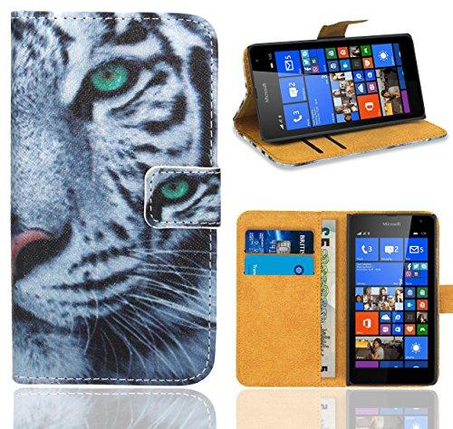 Microsoft Lumia 535 Handy Tasche, FoneExpert® Wallet Hülle Flip Cover Hüllen Etui Ledertasche Lederhülle Premium Schutzhülle für Microsoft Lumia 535 (Pattern 6)