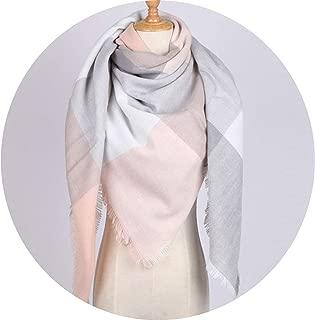 Winter Scarf Women Soft Cashmere Square Shawl Plaid Blanket Scarf and Wraps Foulard