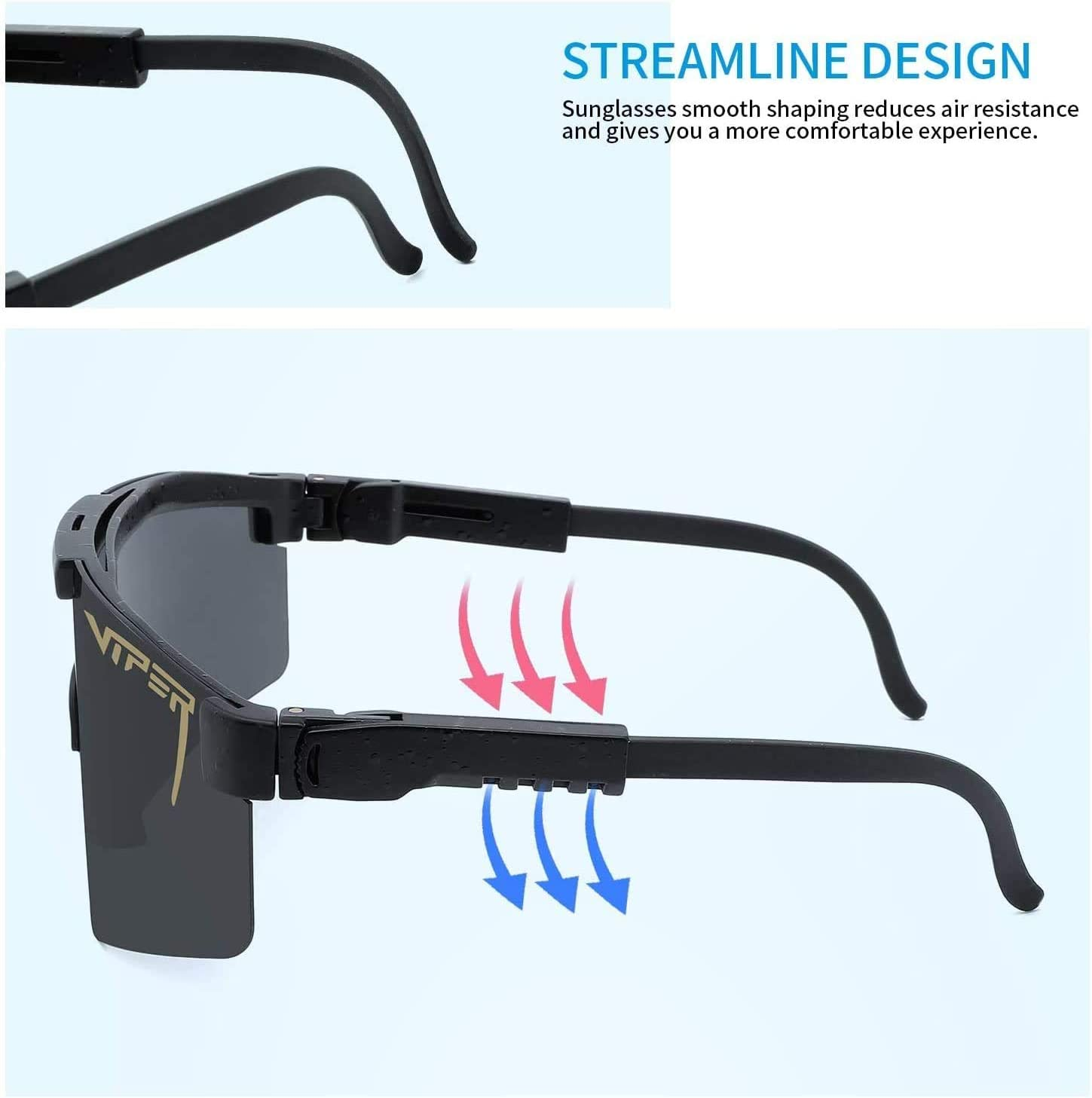 Louliou 1Pcs Pit Viper Sunglasses UV400 Polarized Sunglasses for Women and Men Outdoor Cycling Glasses