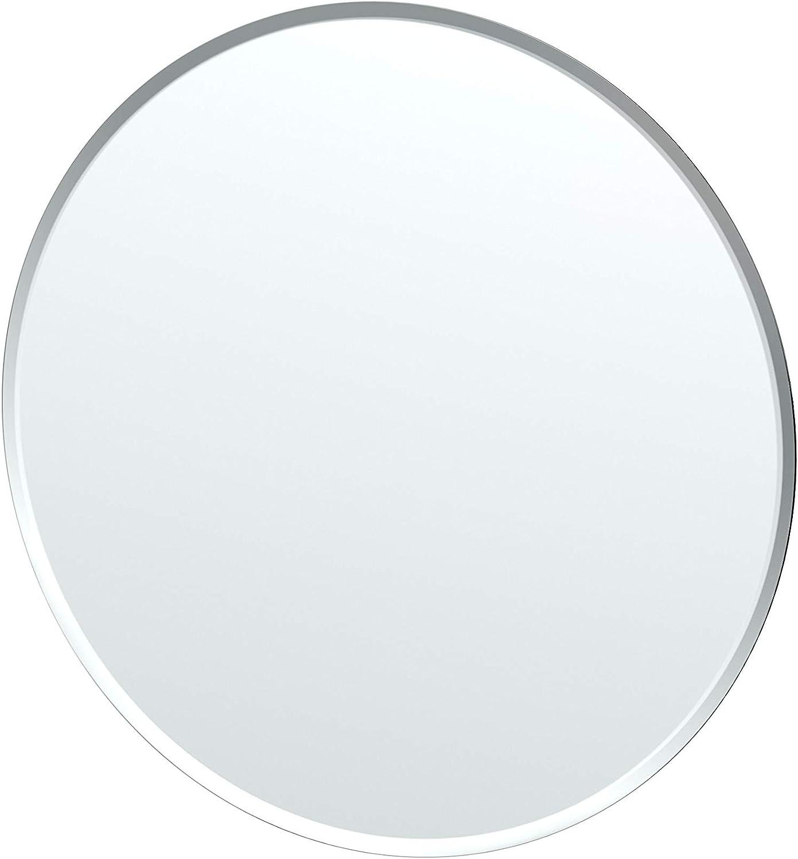 Gatco 1806 Flush Mount Frameless Round Mirror, 24.5-inch